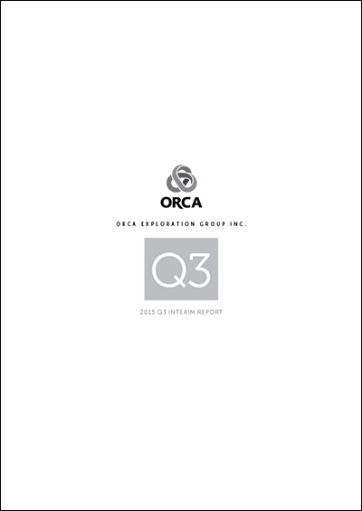 Orca Q3 Interim Report Cover